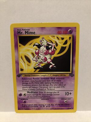Mr. Mime 22/64 1st Edition NM to Mint Jungle Set Rare Non-Holo Pokemon Card