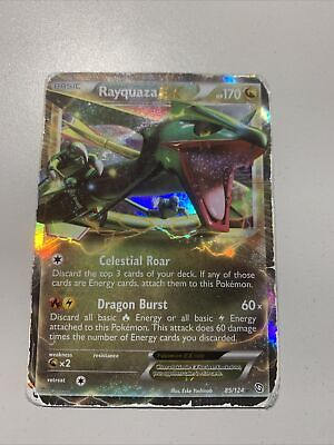 Rayquaza EX 85/124 Dragons Exalted Pokemon Card ~ Played