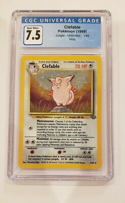 Pokemon Clefable Jungle Set 1/64 CGC 7.5 Near Mint+ (PSA BGS 8?)