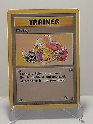 Mr. Fuji 58/62 Pokemon Fossil Set Trainer Uncommon LP Used See Pictures