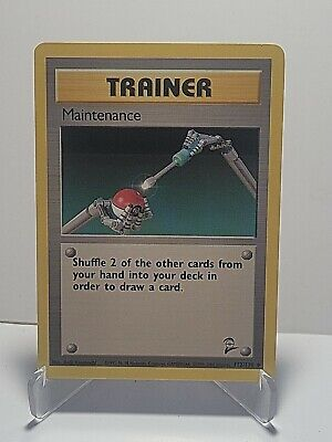 Maintenance 112/130 Pokemon Base Set 2 Uncommon Trainer LP Used See Pictures