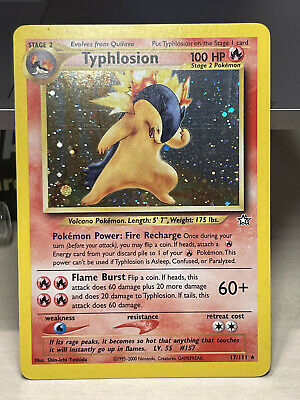 Pokemon Neo Genesis 1st Edition - Typhlosion 17/111 Holo Rare - Great condition