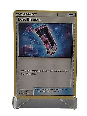 Lost Blender 181/214 Pokemon Lost Thunder Uncommon Trainer LP Used See Pictures