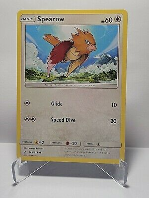 Spearow 145/214 Pokemon Unbroken Bonds Common Colorless LP Used See Pictures