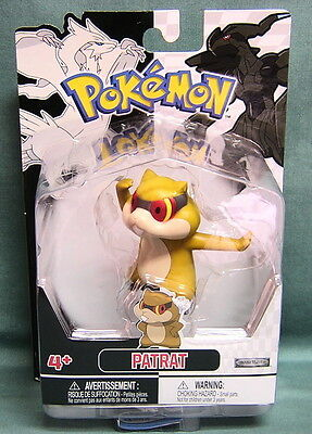 POKEMON  FIGURE by JAKKS PACIFIC- PATRAT- BLACK & WHITE EDITION