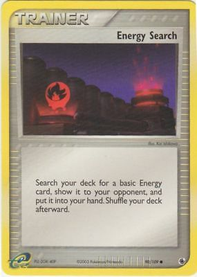 Pokemon Trainer Energy Search 90/109 Common Nm Card  Ruby & Sapphire