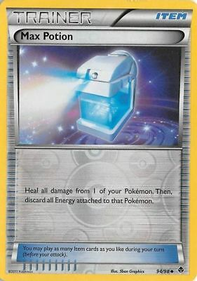 Pokemon Trainer Max Potion 94/98 Uncommon Reverse Holo Nm Card  Emerging Powers