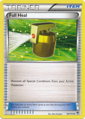 Pokemon Trainer Full Heal 93/111 Uncommon Nm Card Furious Fists