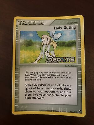 2005 POKEMON EX Lady Outing #87/107 EX Deoxys HOLO ENG NM