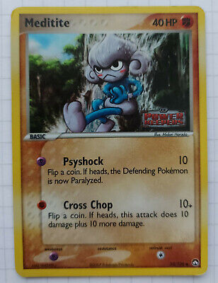 Meditite 55/108 Holo Pokemon EX Power Keepers Card