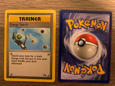 Pokemon Fossil set Trainer Energy Search #59/62 Never Played
