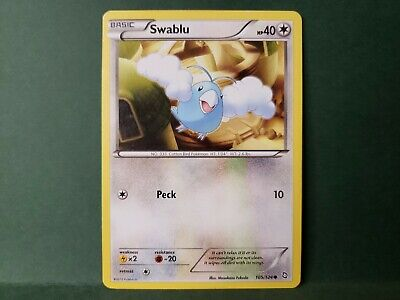 Pokemon Dragons Exalted Swablu Single Card Common