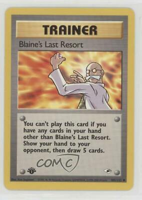 1999 Pokemon Gym Heroes 1st Edition Blaine's Last Resort #105 09ra