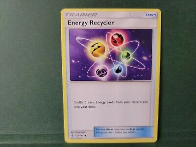 Pokemon Guardians Rising Energy Recycler Trainer Single Card Uncommon