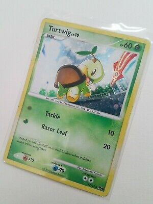 2007 TURTWIG Pop Series 6 Holo 17/17 Pokemon Trading Card - Played!