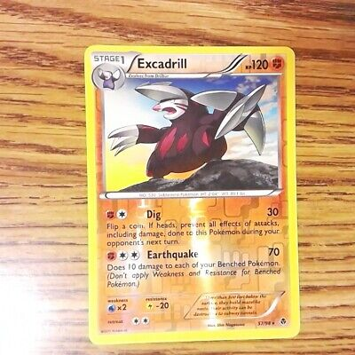 Excadrill 57/98 EMERGING POWERS Reverse Holo Rare Pokemon Card (EX) 050421