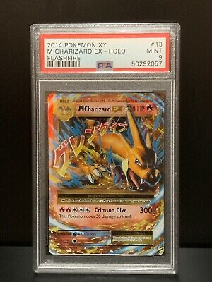 PSA 9 M Charizard EX 13 Flashfire XY Pokemon Card Holo 2014