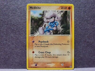 Pokemon Power Keepers Meditite Single Card Common