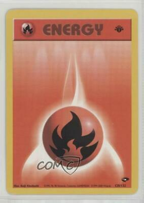 2000 Pokemon Gym Challenge 1st Edition Fire Energy #128 4a9