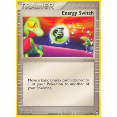 Pokemon Trainer Energy Switch 75/108 Uncommon Nm Card  Power Keepers