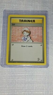 Bill 118/130 Base Set 2 Common Trainer EXCELLENT Pokemon  Card 1999-2000 New!!!