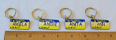 Брелок PERSONALIZED ALASKA LICENSE GIFT TAG/KEY