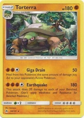 Pokemon TCG Torterra 58/131 Sun & Moon Forbidden Light RARE NM/M