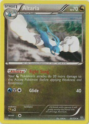 1x - Altaria - 84/124 - Holo Rare LP Pokemon Dragons Exalted