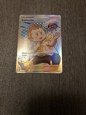 FULL ART Pokemon Sophocles Card BURNING SHADOWS Set 146/147 Trainer Supporter