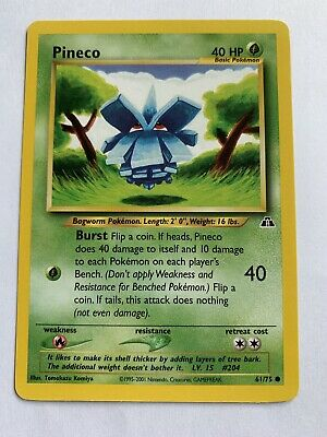 Pokemon Neo Discovery 61/75 Pineco Common Non-Holo 1st First Edition