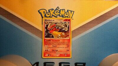 Blaziken Platinum Holo Pokemon Card Played
