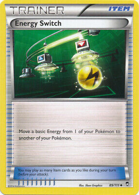 1x - Energy Switch - 89/111 - Uncommon LP, English Pokemon Furious Fists
