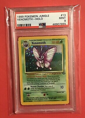 Venomoth 1999 Pokemon Jungle Holo PSA 9 Mint #13