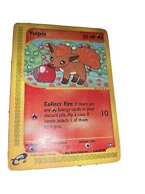 2003 Pokemon Aquapolis Card#116 Vulpix Basic