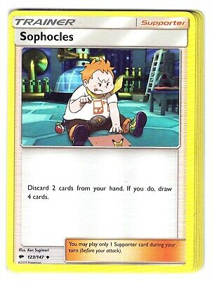 Pokemon SM Burning Shadows, Sophocles 123/147 Uncommon NM-M