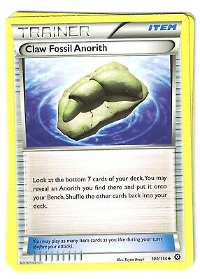 Pokemon XY Steam Siege, Claw Fossil Anorith 100/114 Uncommon Mint,