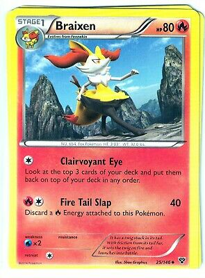 Pokemon XY Core Set, Braixen 25/146, Uncommon NM,