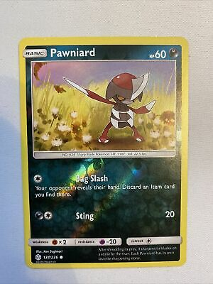 Pawniard 134/236 Reverse Holo Cosmic Eclipse Pokemon TCG Card NM
