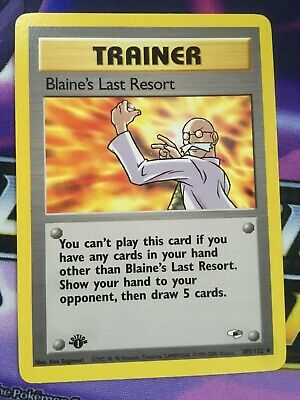 Blaine's Last Resort - 105/132 - Uncommon - 1st Edition Gym Heroes Pokemon - NM