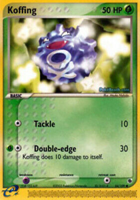 1x - Koffing - 54/109 - Common PL/MP Pokemon EX Ruby and Sapphire