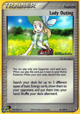1x - Lady Outing - 83/109 - Uncommon LP, English Pokemon EX Ruby and Sapphire