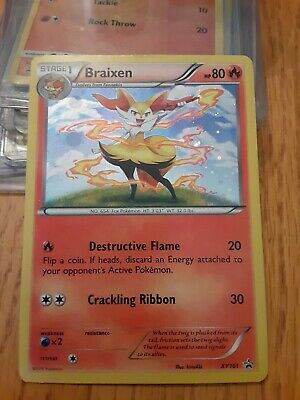 Braixen Rare Halo, XY161 Black Star Promo Pokemon TCG 2016