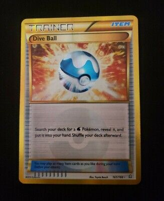 Pokemon DIVE BALL 161/160 - XY Primal Clash SECRET RARE FULL ART Used
