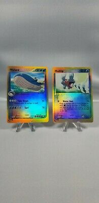 Pokemon E Series Dragon Frontiers Mudkip Reverse Holo 65/97 & RS Wailord 14/109