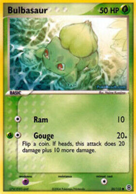 1x - Bulbasaur - 55/112 - Common LP, English Pokemon EX FireRed & LeafGreen