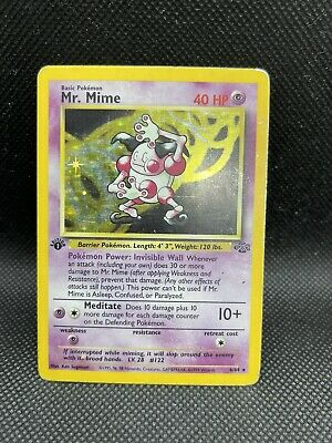 Pokemon Mr. Mime 1st Edition Holo Jungle  🔥🔥🔥