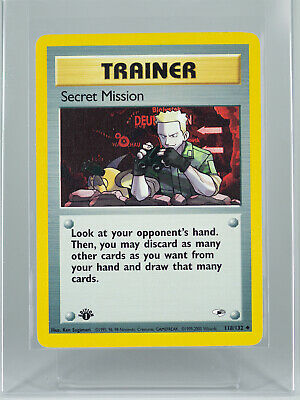 Secret Mission 118/132 Gym Heroes First Edition Trainer Pokemon Card Near Mint
