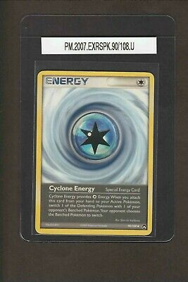 Cyclone Energy 90/108 Uncommon 2007 EX Ruby & Sapphire Power Keepers Pokemon