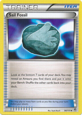 1x - Sail Fossil - 98/111 - Uncommon - Reverse Holo NM Pokemon Furious Fists