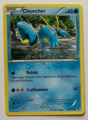 Clauncher 23/111 -common- Xy Furious Fists 2014 Pokemon Nm